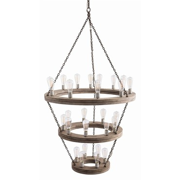 Geoffrey three tier chandelier