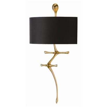 Gilbert Gold Leaf Wall Sconce