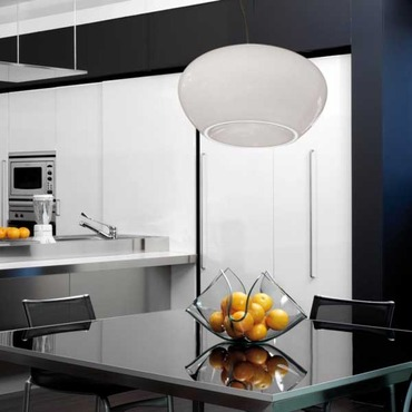 Curling Big Pendant by Av Mazzega | S03156-WH