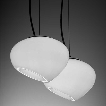 Curling Small Pendant by Av Mazzega | S03155-WH
