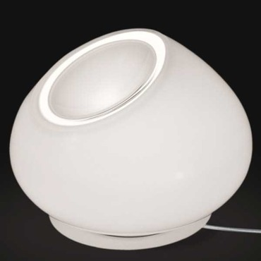 Curling Small Table Lamp by Av Mazzega   TA4104-WH