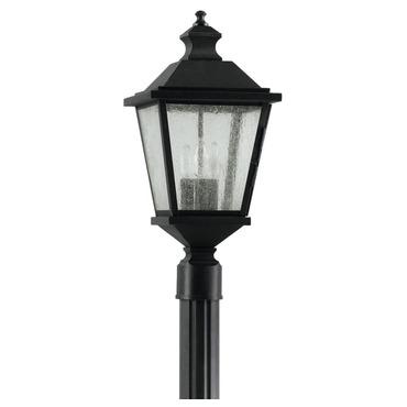 Woodside Hills Post Light by Feiss | OL5707BK