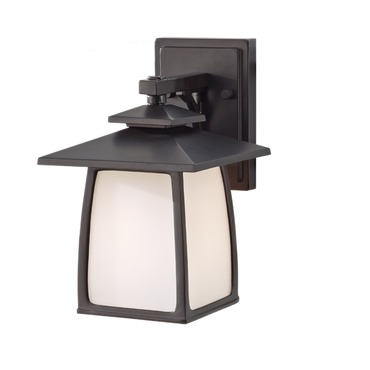 Wright House Outdoor Wall Sconce by Feiss | OL8500ORB