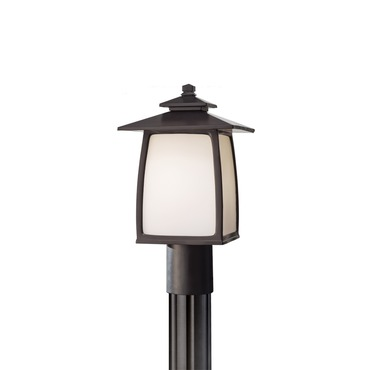 Wright House 8 inch Outdoor Lantern Post by Feiss | OL8507ORB