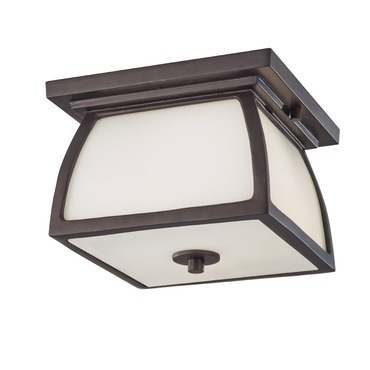 Wright House Outdoor Flush Mount by Feiss | OL8513ORB