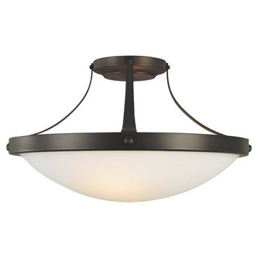Boulevard Semi Flush Ceiling Light by Feiss | SF187ORB