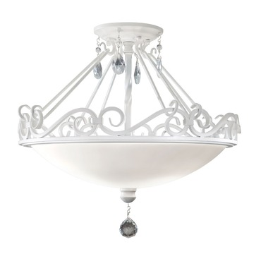 Chateau Semi Flush Ceiling Light by Feiss | SF190SGW