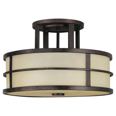 Fusion Semi Flush Ceiling Light by Feiss | SF217GBZ
