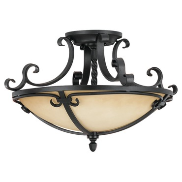 King'S Table Semi Flush Mount