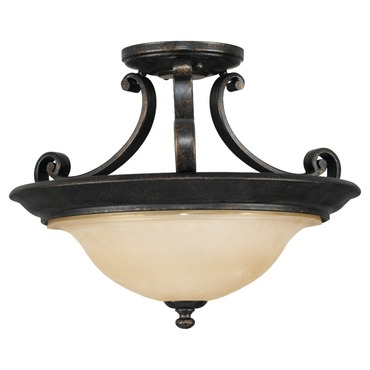Cervantes 15 inch Semi Flush Mount