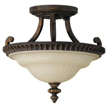 Drawing Room Semi Fixed Arm Flush Mount by Feiss   SF238WAL