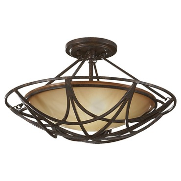 El Nido Semi Flush Mount by Feiss | SF286MBZ