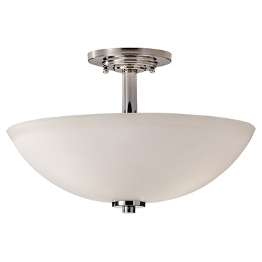 Malibu Semi Flush Ceiling Light by Feiss | SF308PN