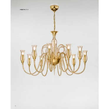 1022 One Tier Chandelier by Lightology Collection | LC-1022/10-K-D.A