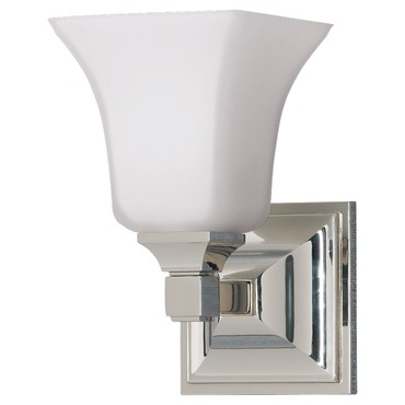 American Foursquare Bathroom Vanity Light by Feiss | VS12401-PN
