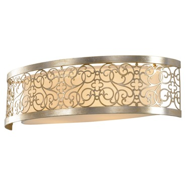 Arabesque Bathroom Vanity Light by Feiss | VS16702-SLP