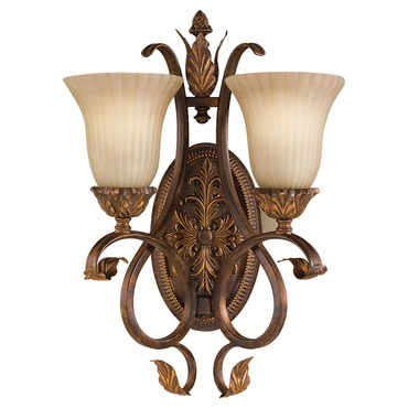 Sonoma Valley 2 Light Wall Sconce by Feiss | WB1281ATS