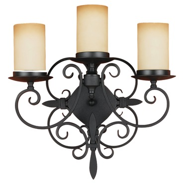 King's Table 3 Light Wall Sconce
