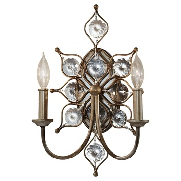 Leila 2 Light Wall Sconce by Feiss   WB1579BUS