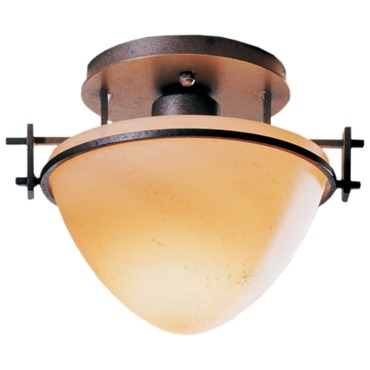 Moonband Dome Semi Flush Mount by Hubbardton Forge | 124247-08-H80
