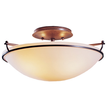 Plain Small Semi Flush Ceiling Light by Hubbardton Forge | 124302-07-G47