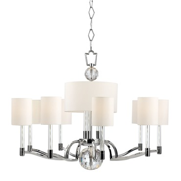 Waterloo Chandelier by Hudson Valley Lighting | 3009-PN