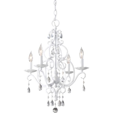 Chateau Blanc Chandelier by Feiss | F1904/4SGW