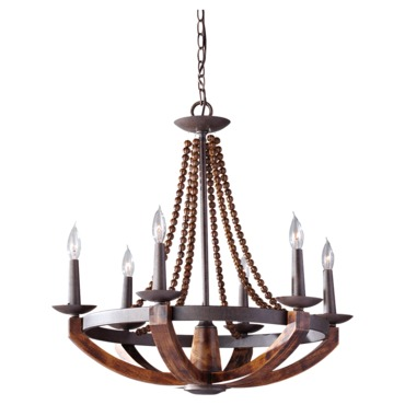 Adan F2749 Chandelier by Feiss | F2749/6RI/BWD