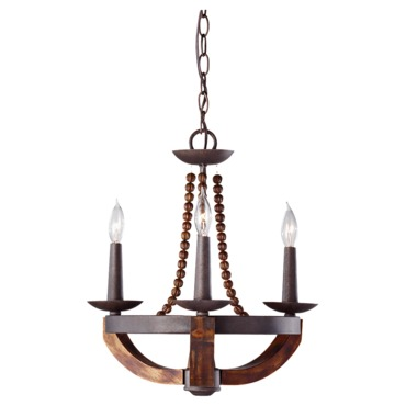 Adan F2750 Chandelier by Feiss | F2750/3RI/BWD