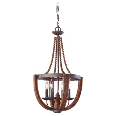 Adan F2753 Chandelier by Feiss | F2753/4RI/BWD