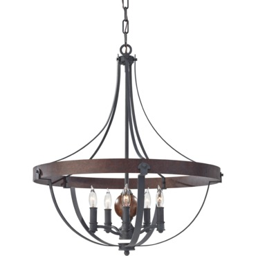 Alston Chandelier by Feiss | F2794/5AF/CBA