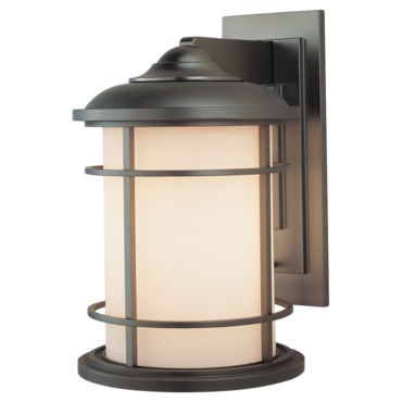 Lighthouse Outdoor Wall Light by Feiss | OL2202BB