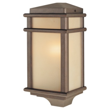 Mission Lodge Outdoor 3403 Wall Light by Feiss | OL3403CB