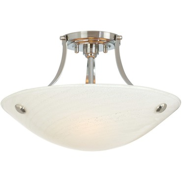 Neptune CFL Semi-Flush Ceiling Mount by Stone Lighting | CL501OPSNCF13
