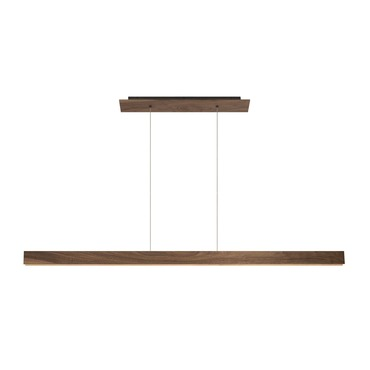 Glide Wood Linear Suspension by Edge Lighting | GL-D1-C-60IN-27K-WN-SN