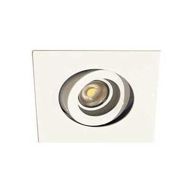 3.5 Square Adj LED Trim 6W 2700K WFL