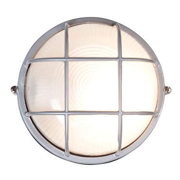 Nauticus Round Outdoor Bulkhead Wall Sconce by Access | 20296-sat/FST