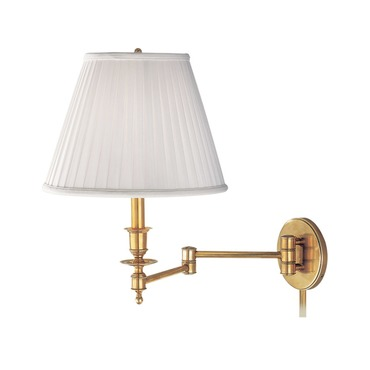 Ludlow Swing Arm Wall Light by Hudson Valley Lighting | 6921-AGB