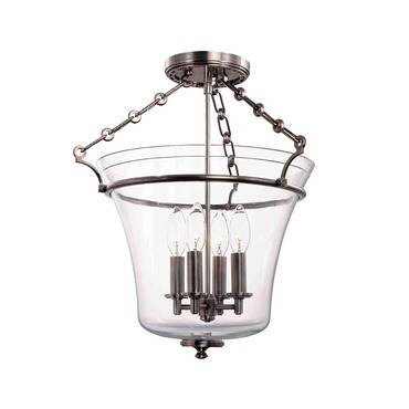 Eaton Semi Flush Ceiling Light by Hudson Valley Lighting | 832-HN
