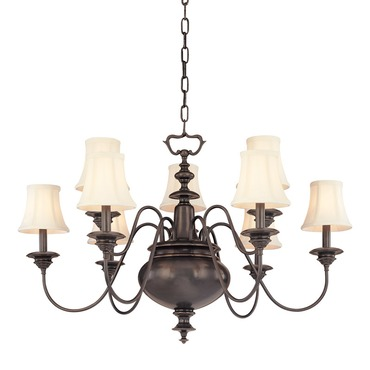 Yorktown Chandelier by Hudson Valley Lighting | 8719-OB