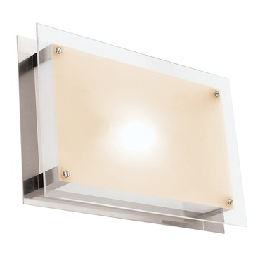 Vision Rectangle Wall or Ceiling Flush Mount by Access | 50034-BS/FST