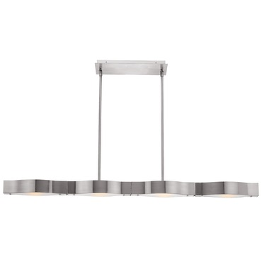 Titanium Linear Semi Flush or Pendant