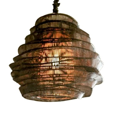 Bamboo Cloud Tall Chandelier