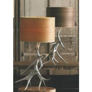 Wood Veneer Table Lamp