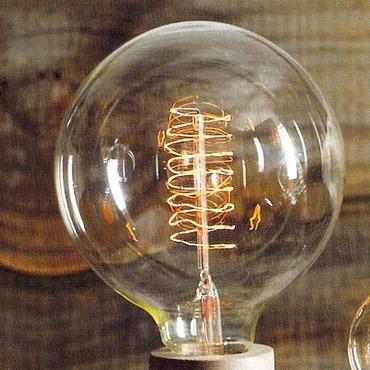 Filament Edison LB10 Globe 60W Medium Base 120V Bulb by Roost | ROLB10