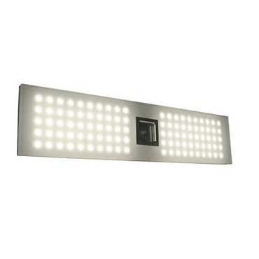 Grid Panel Bath Bar by Blackjack Lighting | 10GRD-2VBA-W