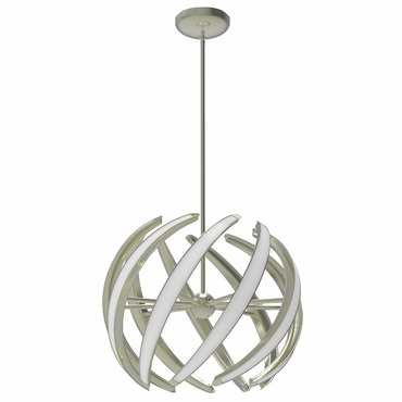 Swirl Pendant by Blackjack Lighting | 2SWL-M9PL-SN