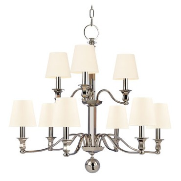 Charlotte Chandelier by Hudson Valley Lighting | 1419-PN-WS