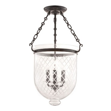 Hampton C2 Semi Flush Ceiling Light by Hudson Valley Lighting | 253-OB-C2