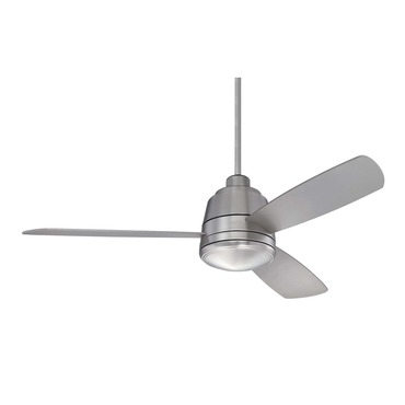 Polaris Ceiling Fan with Light by Savoy House | 52-417-3SV-SN